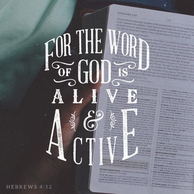 VOTD July 22, 2019 - For the word of God is living and active and sharper than any two-edged sword, and piercing as far as the division of soul and spirit, of both joints and marrow, and able to judge the thoughts and intentions of the heart. HEBREWS‬ ‭4:12‬ ‭NASB‬‬