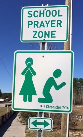 School Prayer Zone Road Signs- Yes, that's right and one South Carolina County there are new street signs going up near school zones and churches. These roadway signs are found in Richland County, SC as a reminder to pray for those in the states public school system.