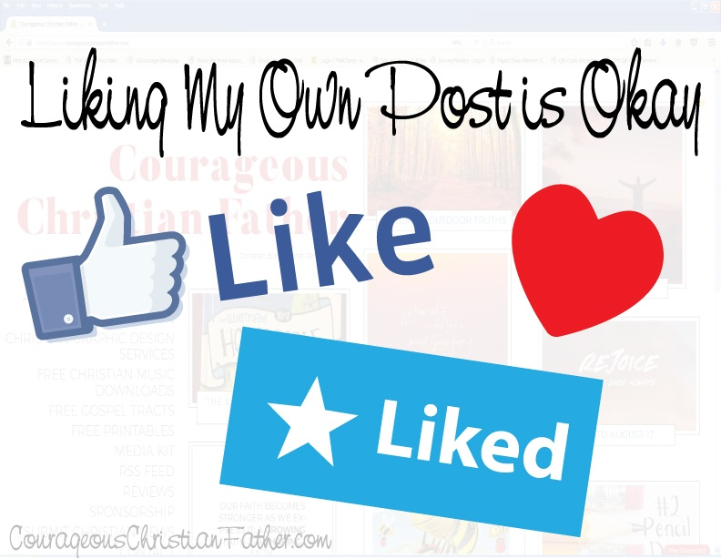 Liking my own Post is okay - I think in a way it shows that you approve this post that you liked.
