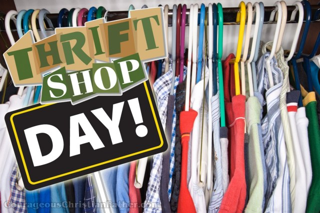 National Thrift Shop Day - a great place to often find great deals on used and sometimes new stuff. #ThriftShopDay