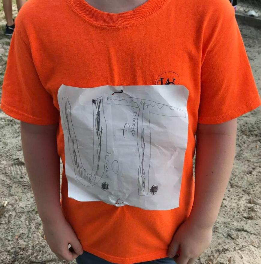 UT Has Sold More Than 50,000 of a Florida Bullied Boy's T-Shirt - A young Tennessee Vol Fan was bullied for his homemade design. Those are just the pre-orders within a couple of weeks. (Original Design)