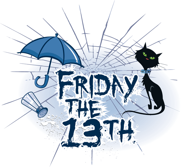 Friday the 13th & a Full Moon - This happens when a full moon occurs on a Friday with the date of 13. Which is a rare occasion.