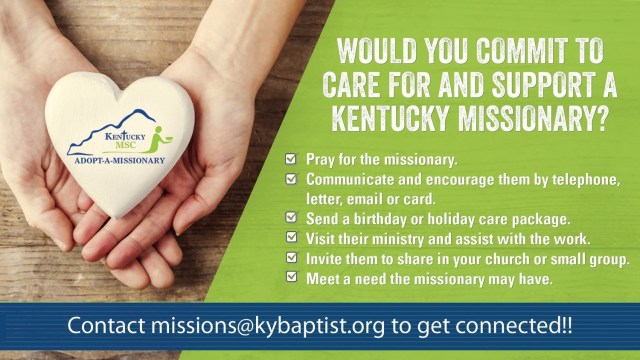 Adopt-a-Missionary - a way to help and care for our missionaries. A way you can help missionaries is by adopting one.