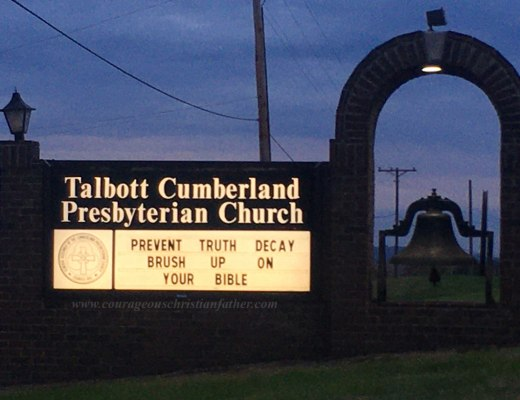 Prevent Truth Decay Brush Up On Your Bible - Talbott Cumberland Presbyterian Church - Church Sign is this Weeks Church Sign Saturday
