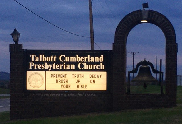 Prevent Truth Decay Brush Up On Your Bible - Talbott Cumberland Presbyterian Church - Church Sign