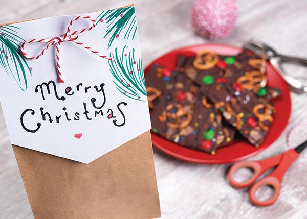 Chocolate Bacon Bark - When family and friends come together in celebration of the Christmas season, tasty treats are a must-have for the festivities. You can also celebrate the season of giving with a special giveaway at the end of your gathering to show your gratitude to loved ones.