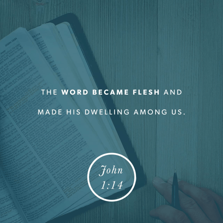 """VOTD January 18 - """"And the Word became flesh, and dwelt among us, and we saw His glory, glory as of the only begotten from the Father, full of grace and truth."""" John 1:14 NASB"""