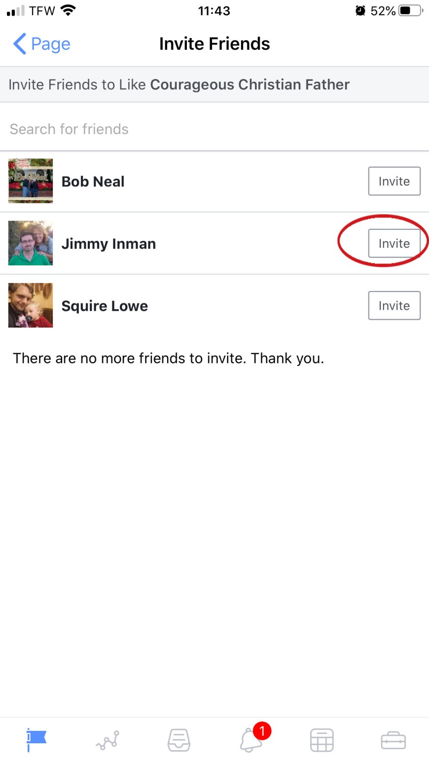Invite Friends to Like your Facebook Page screenshot.