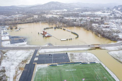 Prayers for Williamsburg, KY, and other flooded areas. Recent rains have caused flooding in places including Williamsburg, KY. Even the University of the Cumberlands flooded.    Photo courtesy of Bill Turner/University of the Cumberlands.