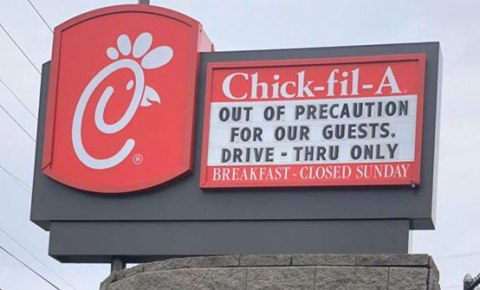 Chick-fil-A closes Dining Room, Offers Drive-Thru Only - This move is to help lower the risk of employees and patrons exposure to the Coronavirus COVID-19. #Coronavirus #COVID19 #ChickfilA