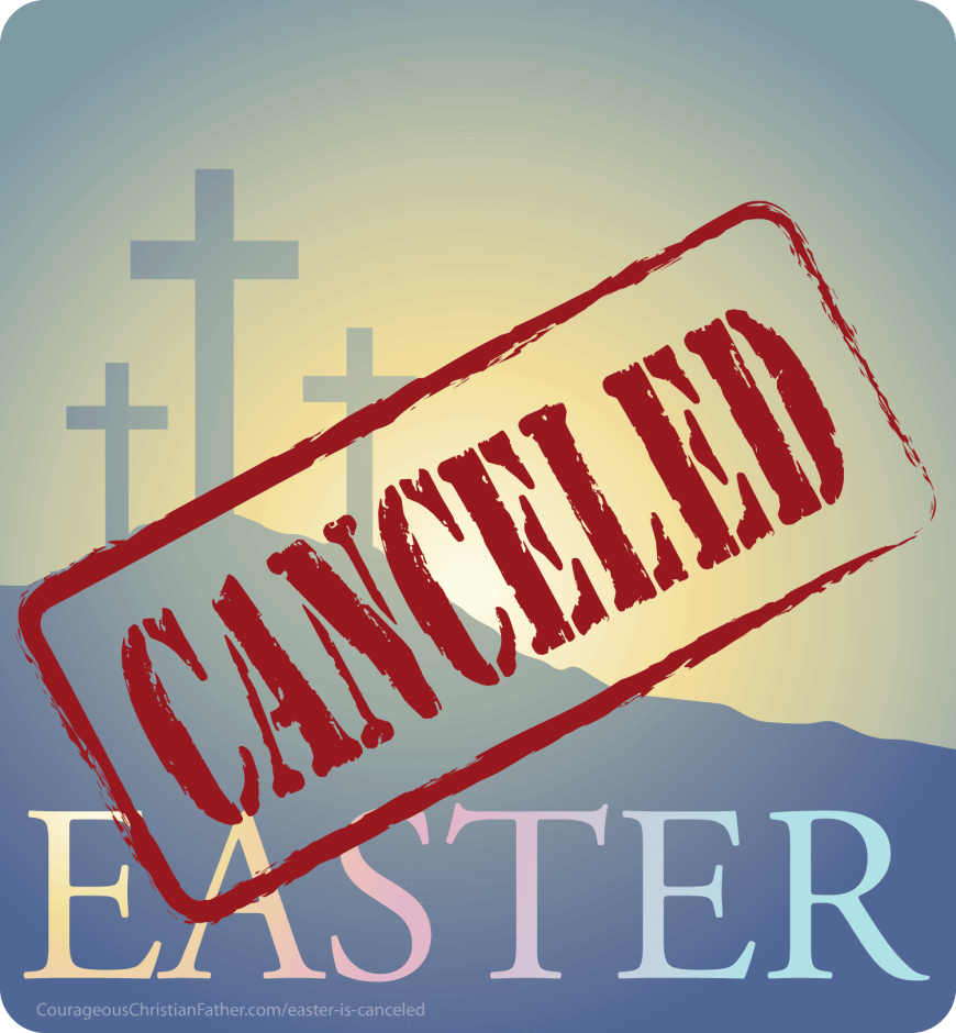 Easter is canceled is what we keep hearing because of the Coronavirus COVID-19. Truly we can't cancel Easter! We can stop the physical gathering for Easter. But we cannot stop Easter from coming.  #Easter #EasterCanceled