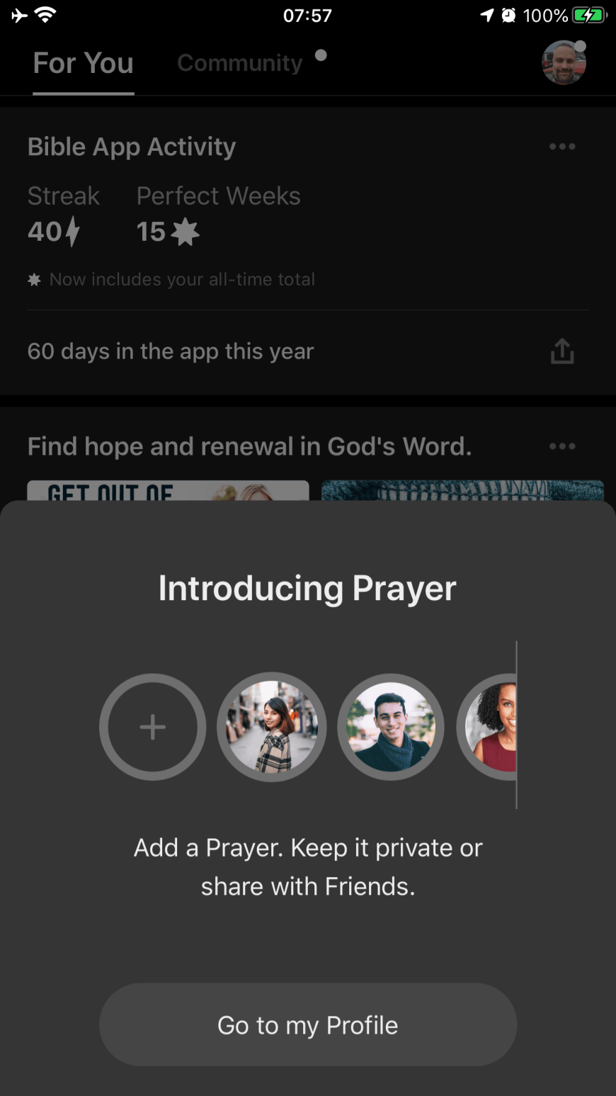 YouVersion Adds Prayer Feature To Their Bible App - YouVersion Community creates 1 million prayers during first week of new Bible App Prayer feature. #YouVersion #Prayer