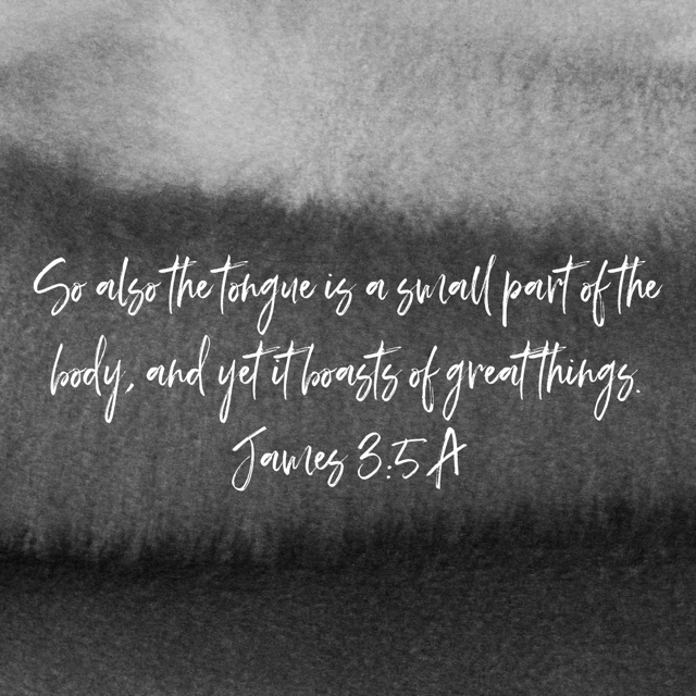 VOTD April 21 - So also the tongue is a small part of the body, and yet it boasts of great things. James 3:5