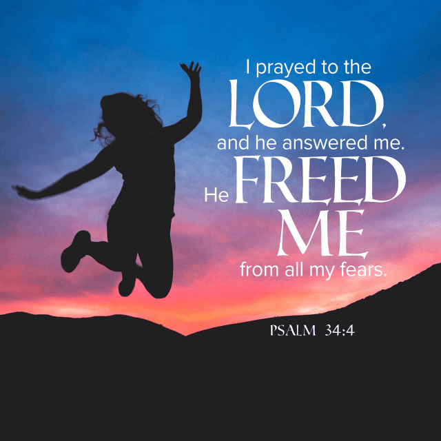 "VOTD April 15 - ""I sought the LORD, and He answered me, And delivered me from all my fears."" ‭‭Psalms‬ ‭34:4‬ ‭NASB‬‬"