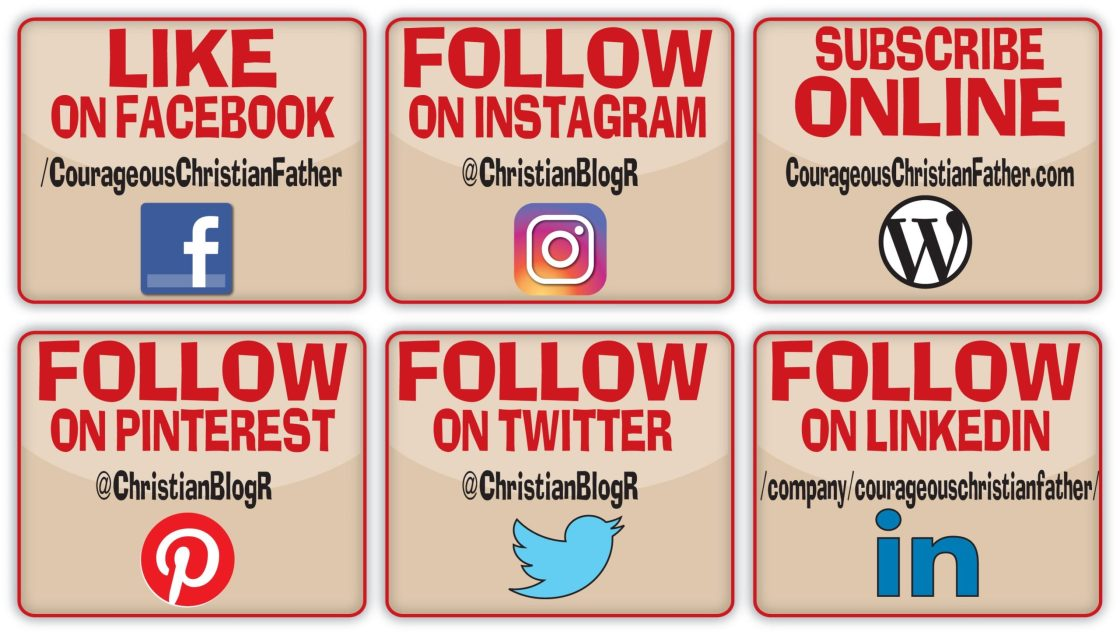 Social media Courageous Christian Father