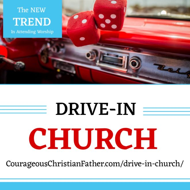 Drive-In Church - Due to restrictions of gatherings in public because of the Coronavirus, some churches are doing online only or some are trying drive-in church. #DriveInChurch