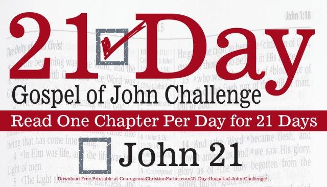 John 21 - Today is Day 21 of the 21 Day Gospel of John Challenge. Read the 21st Chapter of the Gospel of John. #John21 #BGBG2