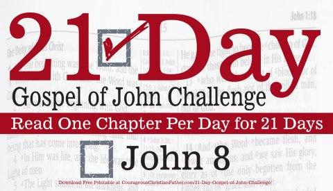 John 8 - Today is Day 8 of the 21 Day Gospel of John Challenge. Today read chapter eight of the Gospel of John. #John8 #bgbg2