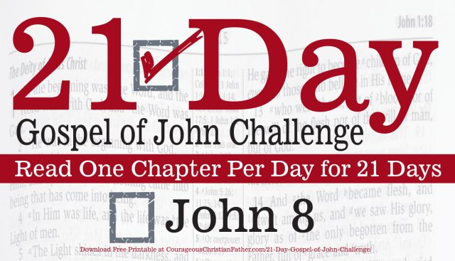 John 8 - Today is Day 8 of the 21 Day Gospel of John Challenge. Today read chapter eight of the Gospel of John. #John8 #bgbg2