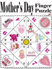 Mother's Day Finger Puzzle Printable