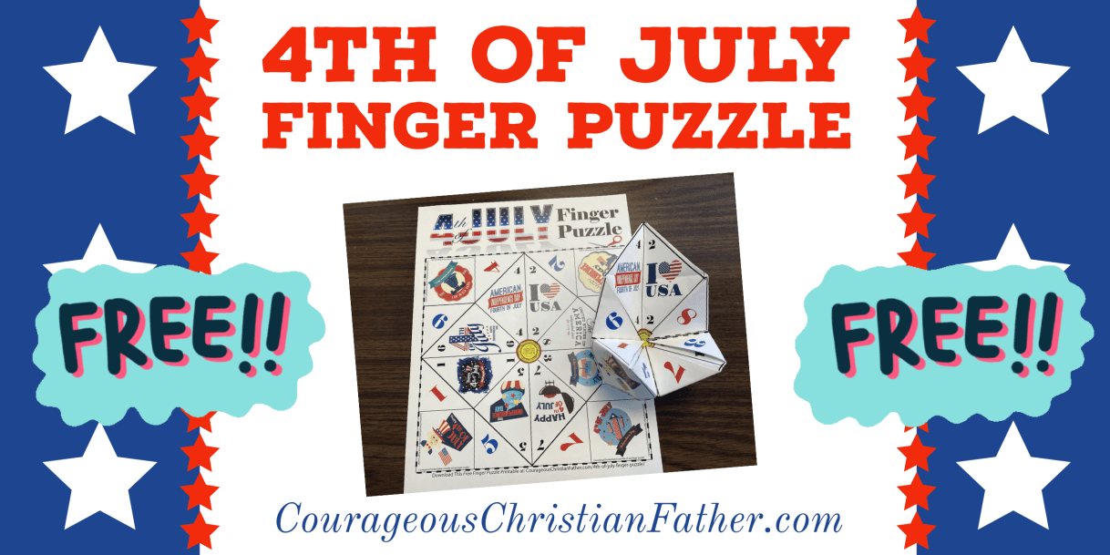 4th of July Finger Puzzle Printable