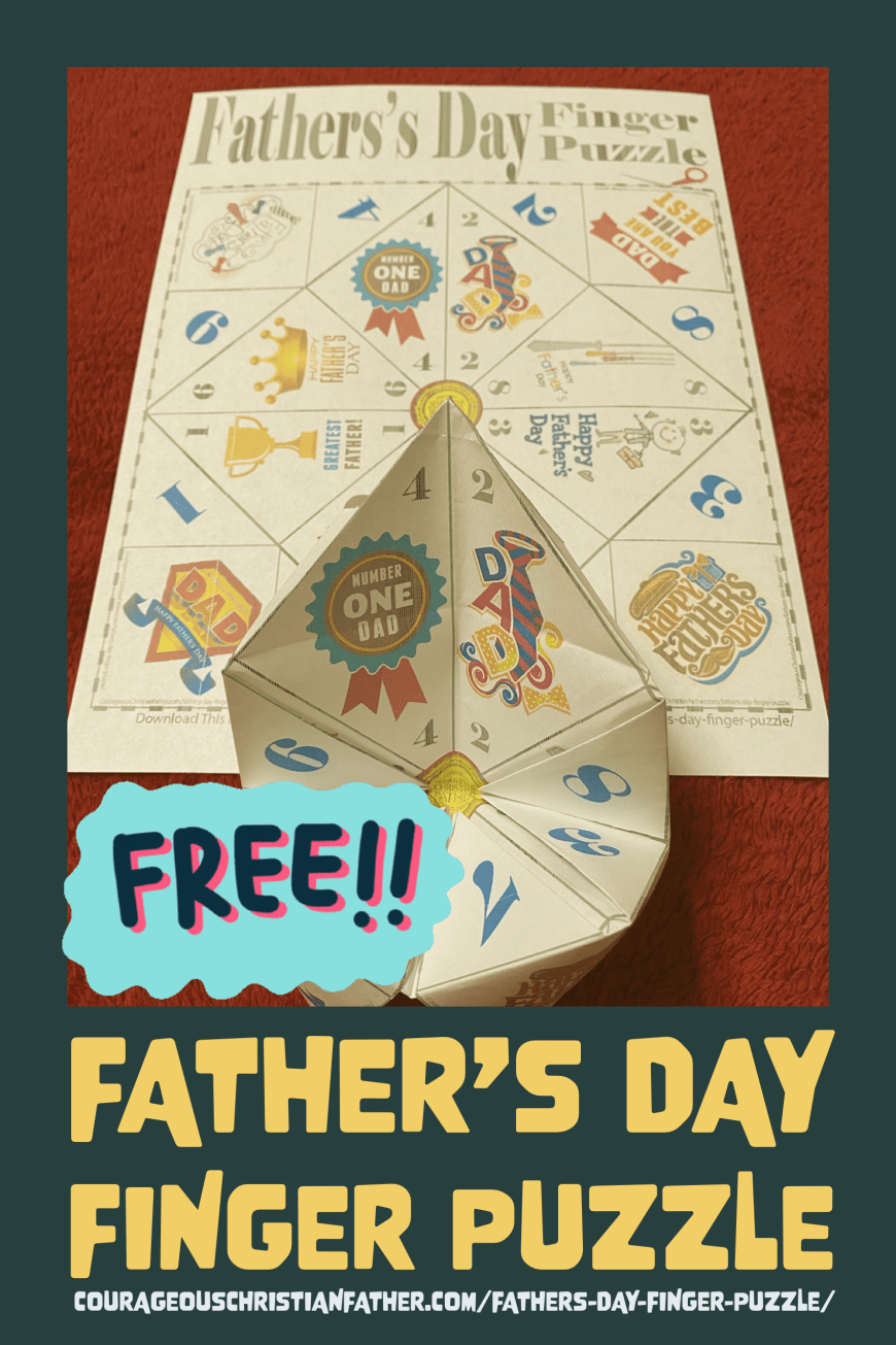 Free Father's Day Finger Puzzle Printable