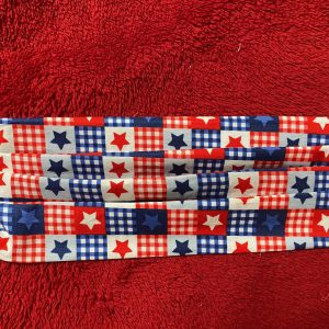 Patriotic Star Quilt Pattern Face Mask #FaceMask