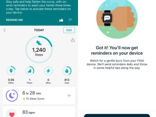 Fitbit watch reminds you to wash your hands