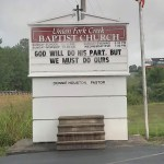 God will do His part church sign
