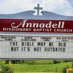 The Bible May Be old Church Sign