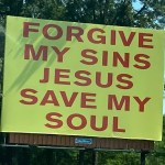 Forgive My Sins Jesus Billboards