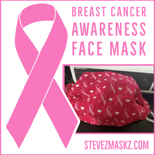 Pink Ribbon Breast Cancer Awareness Face Mask
