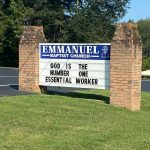 God is the Number One Essential Worker Church Sign