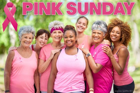 Pink Sunday - a day in October to wear pink in support or memory of someone with Breast Cancer. #PinkSunday #BreastCancer #PinkRibbon