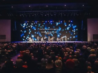 "Concert inside the Answers Center at the Ark Encounter - World's Largest Christian Music Festival Coming to the Ark Encounter - Abraham Productions to Hold ""40 Days & 40 Nights of Gospel Music at The Ark"""