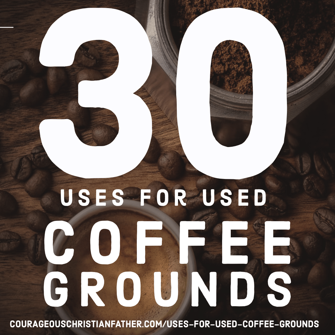 30 Uses for Used Coffee Grounds - Not sure what to do with the coffee grounds after brewing a cup of java? Check out this list of what you can do with leftover coffee grounds. #Coffee #CoffeeGrounds