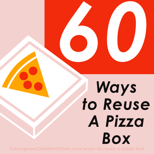 60 Ways to Reuse A Pizza Box - There are some cool ways to reuse a pizza box! #Pizza #PizzaBox