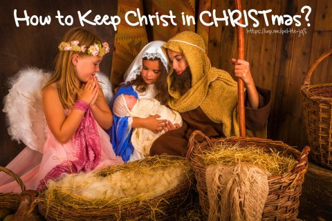 How to Keep Christ in CHRISTmas? A complied List of ways to we can keep Christ in CHRISTmas. Did yours make the list? #Christmas