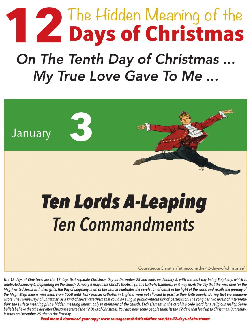 10th Day of Christmas Hidden Meaning Printable