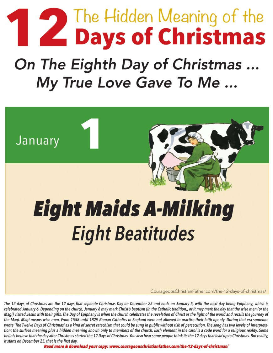 8th Day of Christmas Hidden Meaning Printable