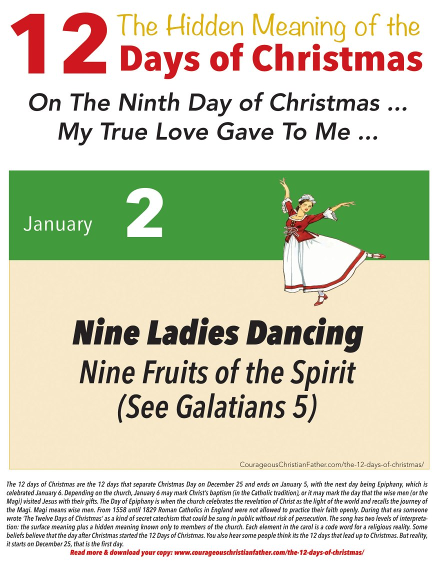 9th Day of Christmas Hidden Meaning Printable