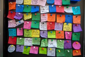 Wishes made in Times Square (Photo courtesy of Times Square Alliance)   #WishingWall #NewYears #2021 #ConfettiWish