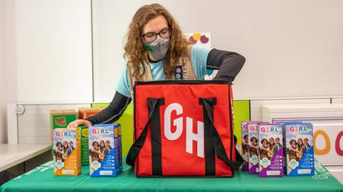 Girl Scout Cookies Ordering Now Available Through Grubhub - Those yummy cookies the Girl Scouts sell now can be sold and delivered to you via Grubhub. #GirlScouts #GirlScoutCookies #Grubhub