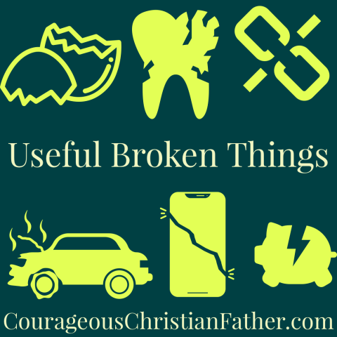 Useful Broken Things - There are many things that are still useful when broken, we are one of those. God uses broken people! #Broken #BrokenThings