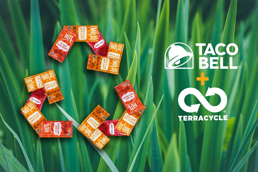Recycle those Taco Bell Sauce Packets