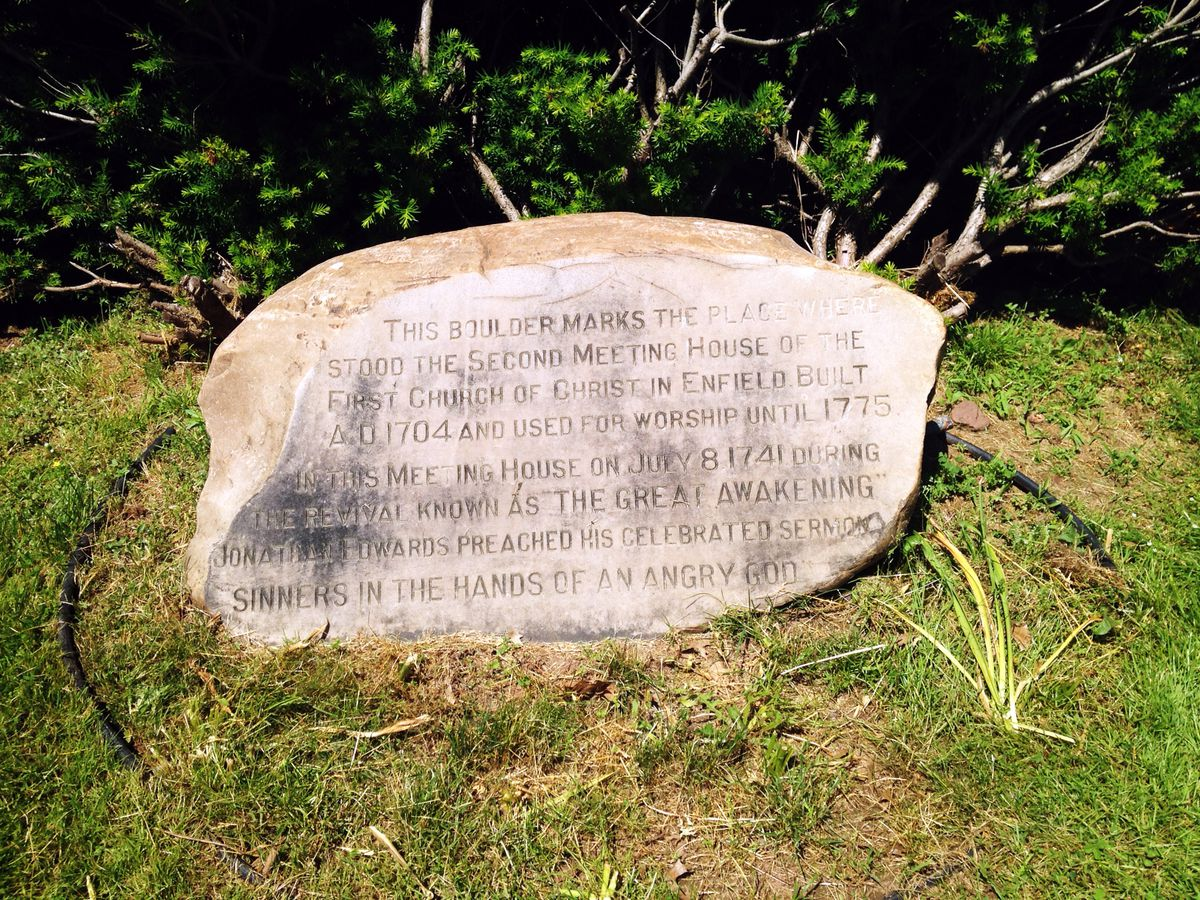 One Of The Most Terrifying Sermons In America Was Given In Enfield A Boulder Marks The Spot