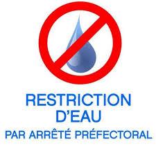 ARRÊTÉ de Restriction d'eau