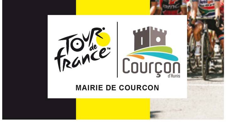 "Affiche officielle ""COURCON FETE LE TOUR"""