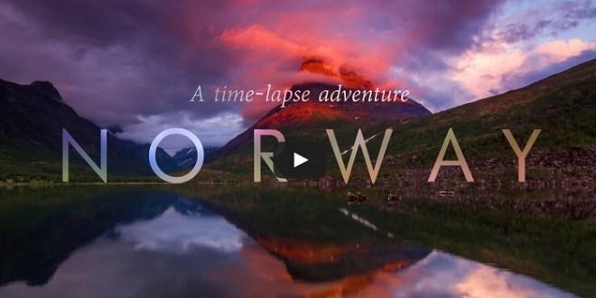 montagne Norvege coucher du soleil