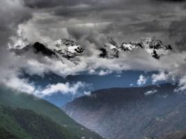 chaine himalaya dans la région du Yunnan